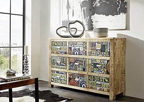 Cassettiera Ufficio Legno Massello : Mobili in legno massello in legno massello legno di mango