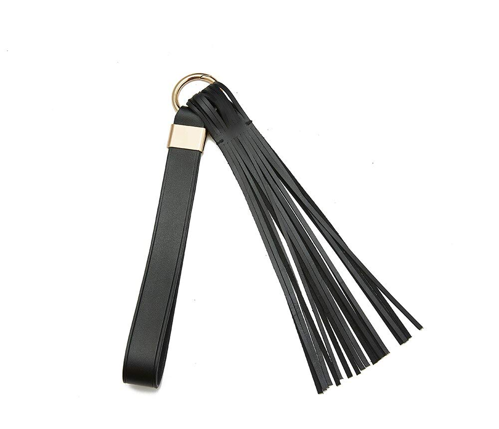 Spreeze Short Horse Riding Whips Handle with Genuine Leather for Teaching Training Tool,Costume Cosplay Accessory