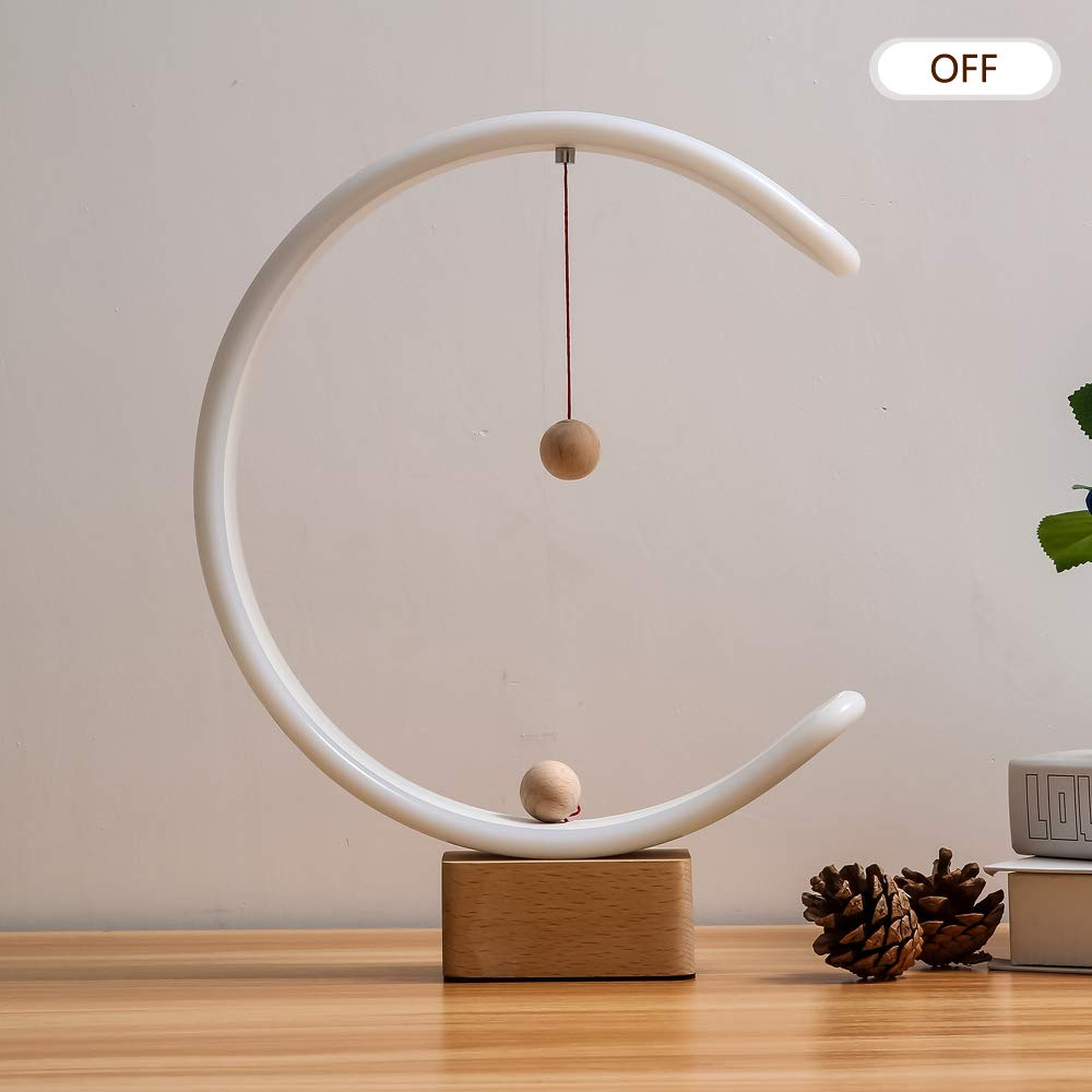 Heng Balance Lamp, lonway Desk Lamp Smart Magnetic Suspension Balance Light Creative LED Night Light Table Lamp Fun Birthday Present