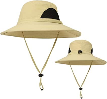 Quick-Dry Safari Sun Hat Unisex Summer UV Protection Bucket Mesh Cap Boonie Hat