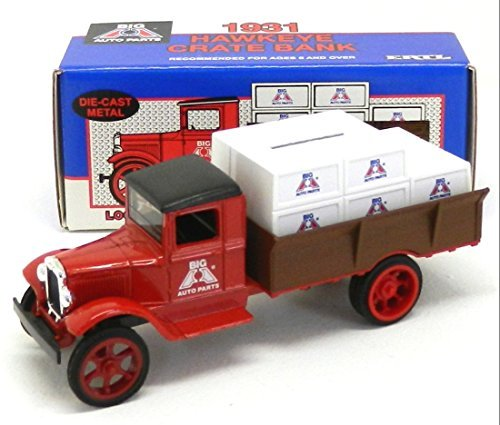 [Ertl Die Cast Metal 1/34 Scale Big A Auto Parts 1931 Hawkeye Crate Coin Bank] (Dss Coin)