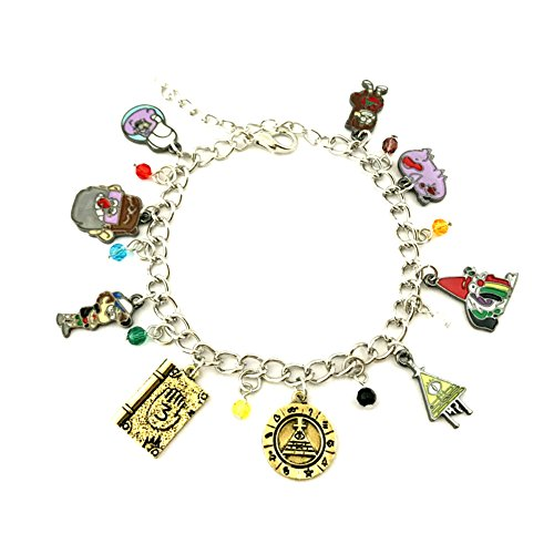 J&C Family Owned Brand Anime Gravity Falls Charms Lobster Clasp Bracelet w/Gift Box ()