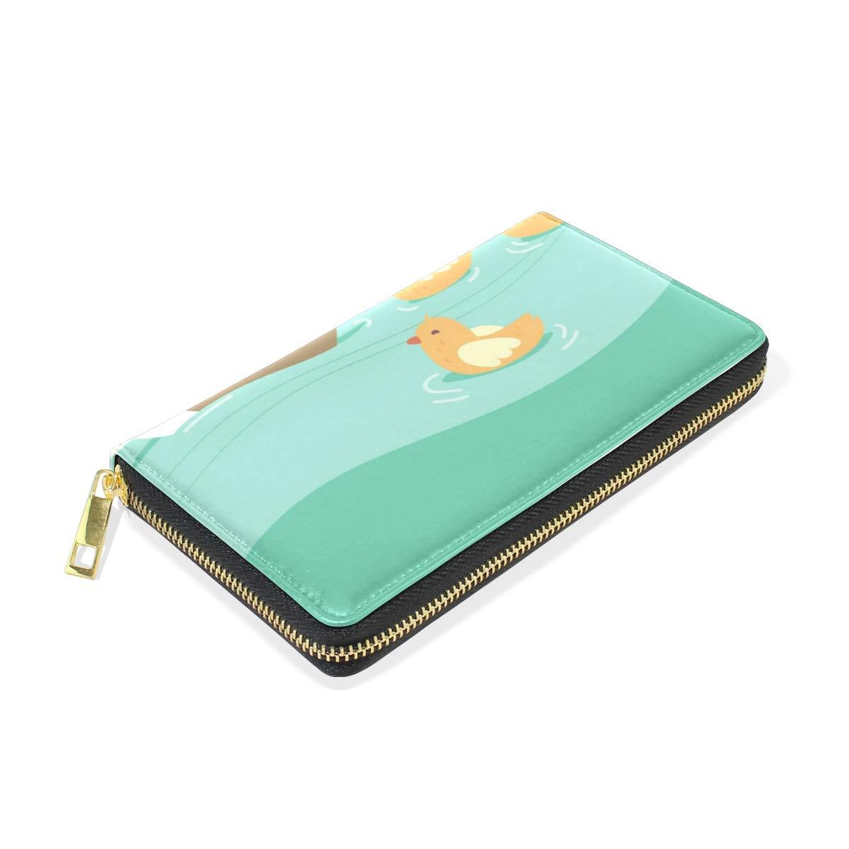 Women Wallet Coin Purse Phone Clutch Pouch Cash Bag,Duck Cute Female Girl Card Change Holder Organizer Storage Key Hold Elegant Handbag Gift