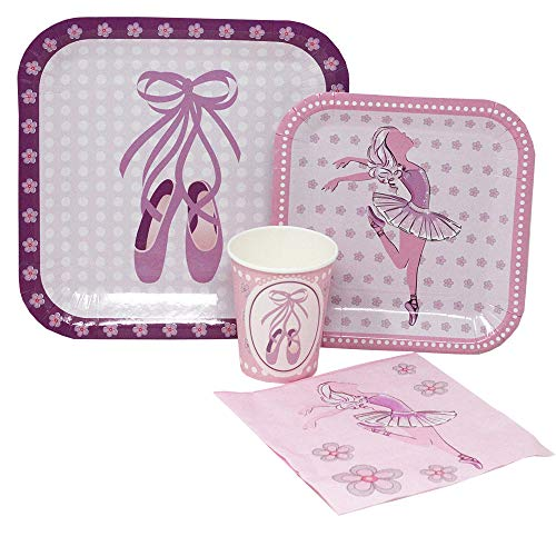 Blue Orchards Ballet Standard Party Packs (65+ Pieces for 16 Guests!), Dance Party Supplies, Ballet Birthday, Tableware