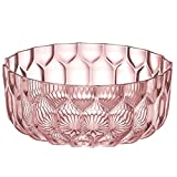 Kartell 1498/E9 Jellies Family Bowl by Patricia Urquiola, Pack of 1, Transparent Pink