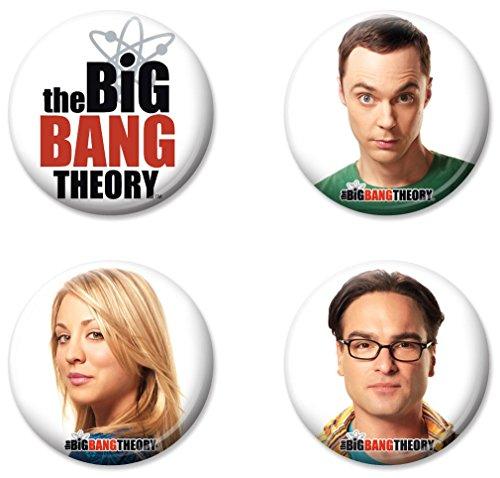 Ata-Boy The Big Bang Theory Characters Set of 4 1.25