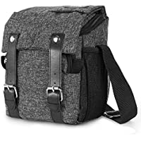 Amzbag Camera Bag DSLR Camera Messenger Bag Case With Shoulder Strap Carrying Shoulder Bag for Four Third, Hybrid, and High Zoom, Mirrorless Camera and Instax Instant Camera (Black)