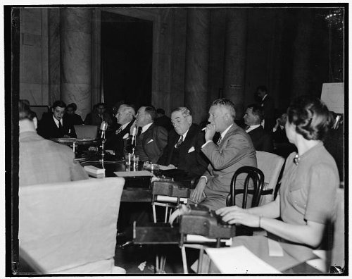 Washington Monopoly - HistoricalFindings Photo: Steel Leaders at Monopoly Committee,Washington,DC,District of Columbia,1939