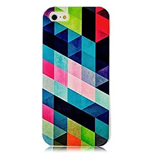 5s Case, iphone 5s &5s Case - Sunshine Case Fashion Style Colorful Painted Prismatic Pattern TPU Soft Cover Case for iphone 5s &5s(Prismatic Pattern)