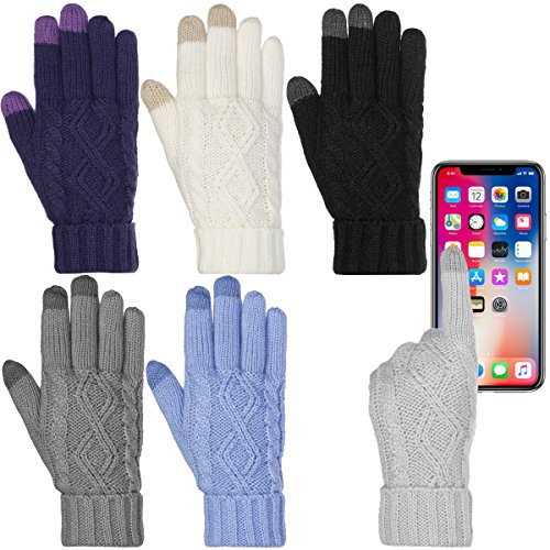 DG Hill Warm Texting Gloves, Winter Gloves For Women For Winter, Touchscreen, Text with Cozy Fleece Lining