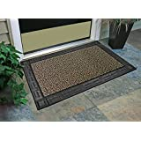 """GrassWorx Omega Doormat, 24 by 36"""", Earth Taupe"""