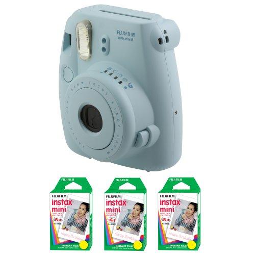 Fujifilm FU64-MINI8BLK60 INSTAX MINI 8 Camera and Film Kit with 60 Exposures (Blue) by Fujifilm