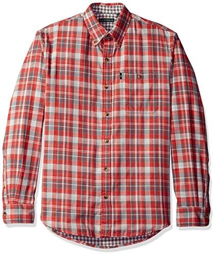 G.H. Bass & Co. Men's Lake Water Plaid Long Sleeve Shirt