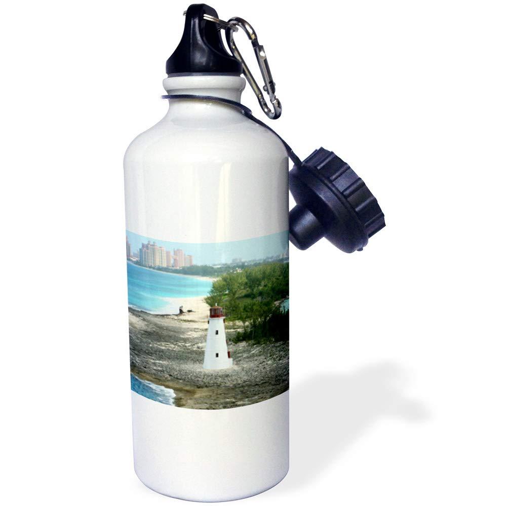 Countrys wb/_214808/_1 Hog Island Lighthouse in Nassau 3dRose Edmond Hogge Jr 21 oz Sports Water Bottle