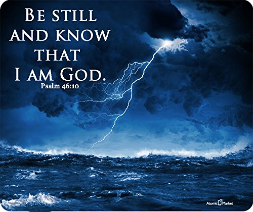 Ocean Storm Be Still And Know That I Am God Psalm 46:10 Thick Mousepad by Atomic Market