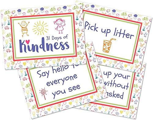 Kindness Cards Random Acts of Kindness Kids Kindness Card Kit 31 Days of Kindness Challenge Deck