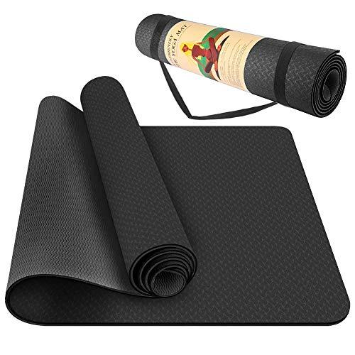 StillCool TPE Yoga Mat Non Slip Fitness Exercise Mat High Density Padding to Avoid Sore Knees, Perfect for Yoga, Pilates…