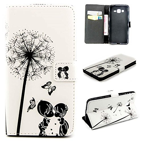 J5 Case£¬Galaxy J5 Leather Wallet Case,Maoerdo [Valentine Dandelion] Built-in Card Slots Folio Flip Kickstand Feature Magnetic PU Leather Wallet Case Cover for Samsung Galaxy J5]()