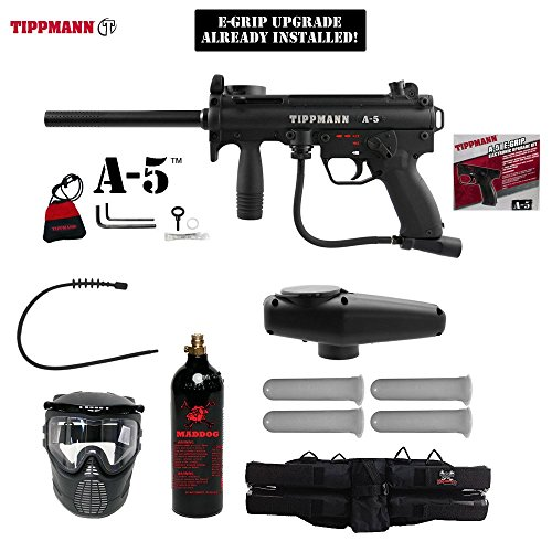 MAddog Tippmann A5 A-5 Paintball Gun w/Egrip Complete Gold Package