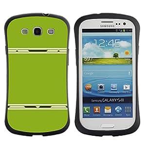 Suave TPU GEL Carcasa Funda Silicona Blando Estuche Caso de protección (para) Samsung Galaxy S3 I9300 / CECELL Phone case / / Abstract Plastic Minimalist Lines /