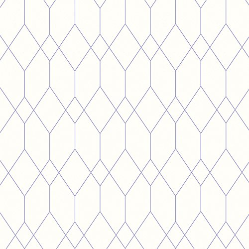 (Geometric Diamond Wallpaper White / Purple Esprit)