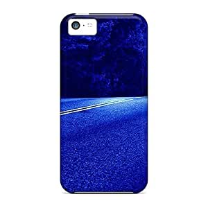 HeyXdcE2278uMhWV Case Cover Protector For Iphone 5c Road Under The Moonlight Case