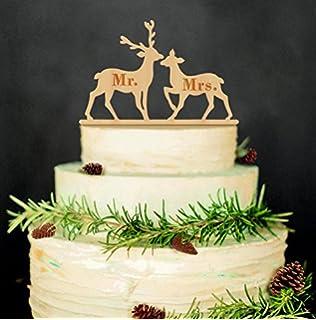 Amazon Com Wedding Cake Topper Engraved Mr Mrs Cake Topper Mr Mrs