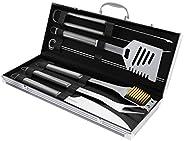Home-Complete Conjunto de ferramentas para churrasqueira - acessórios para churrasco de aço inoxidável, estojo