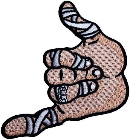 Shaka Hand BJJ - Parche Bordado para Planchar o Coser, 90 mm ...