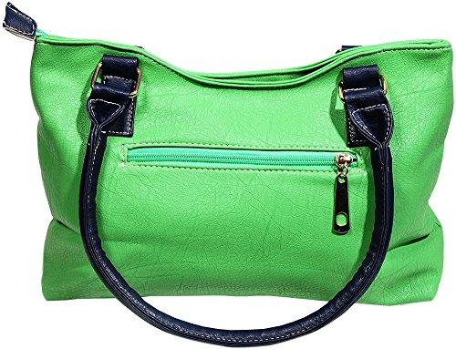Borsa Da Donna Blu / Verde 28 X 18 Cm