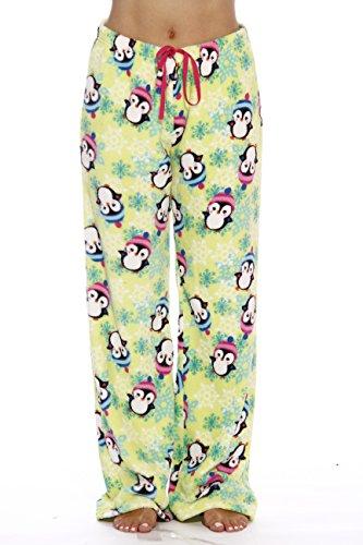 Just Love Women's Plush Pajama Pants, Small, Snowy Penguin