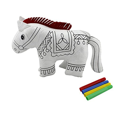 yzakka-paintable-toys-draw-on-stuffed-animal-drawing-supplies-for-kids-with-color-pens-horse
