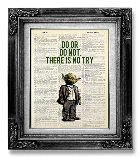 Amazoncom Funny Star Wars Wall Art Print Do Or Do Not There Is