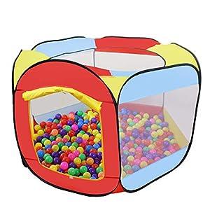 MAIKEHIGH Tenda da Gioco per Bambini, Tenda da Gioco per Bambini Tenda da Giardino Pieghevole da Piscina Bambini per Interni/Esterni(Senza Palle) 1 spesavip