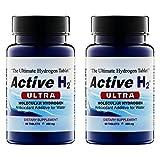 2 pack bundle of Active H H2 Molecular Hydrogen Tablets - Creates Hydrogen Infused Alkaline Water, 120 Tablets