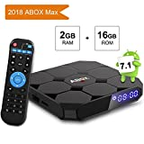 Android 7.1 TV BOX, GooBang Doo ABOX A1 MAX 2GB RAM 16GB ROM Amlogic Quad Core A53 processor 64 bits