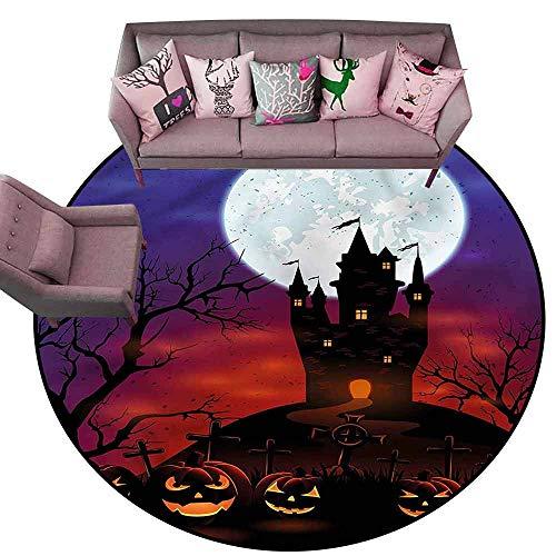 Office Chair Floor Mat Foot Pad Halloween,Haunted Castle