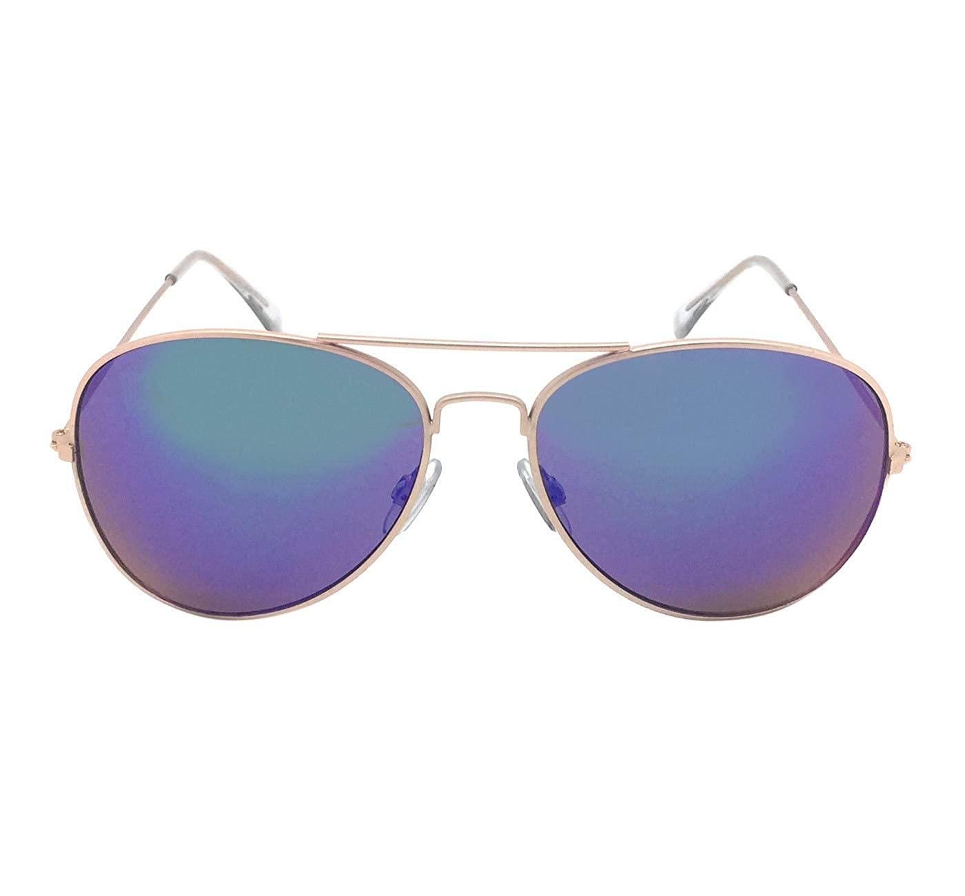 Amazon.com  Sunglasses for Women s - style Aviator w Blue Lenses - Gold   Clothing e4c4e27015