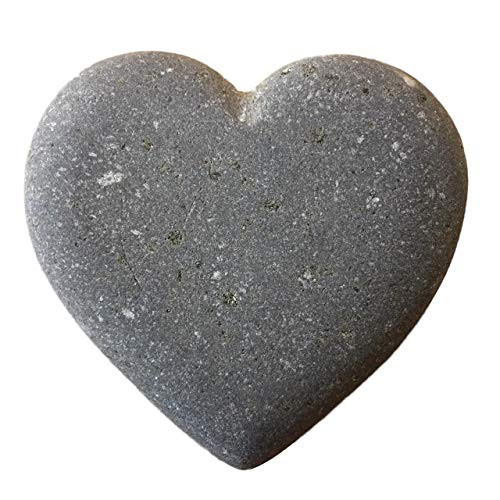 Heart Shape Stone Natural River Rock 3″ Gray For Sale