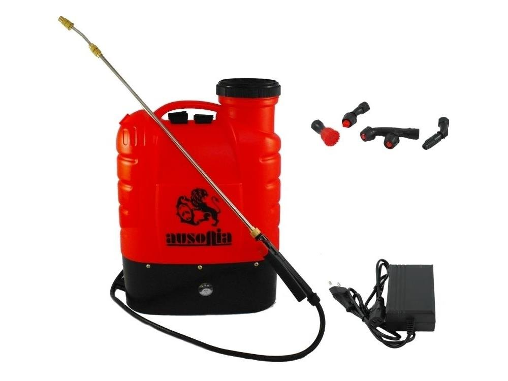 AUSONIA - 38018 BACKPACK ELECTRIC SPRAYER 16 LT WITH LITHIUM BATTERY 12V/10 AH