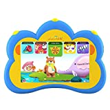 B.B.PAW Kids Tablet English And Spanish Bilingual Languae with 100+ Pre-loaded FREE Apps,7 Inch Learning Machine to Train Kid's Abilities and Develop Talents-Blue