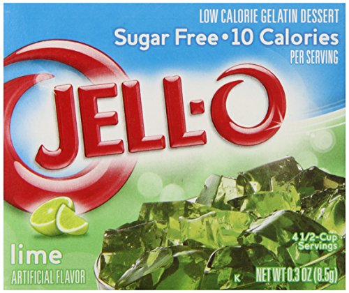 JELL-O Lime Sugar Free Gelatin Dessert Mix (0.30 oz ()