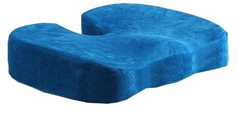 Cojín de asiento Ibelive de espuma de memoria para dolor de espalda baja, lesión en