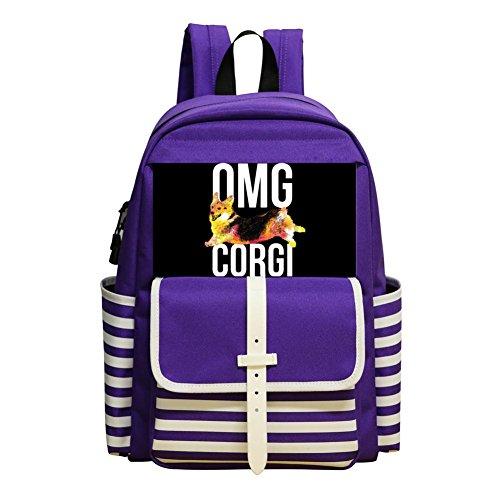 Daypack Shoulder Bag School Rucksack Back to School (Shih Tzu Poodle Puppies)