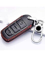 QifawU Lederen Autosleutel Beschermhoes? voor Volkswagen VW CC Passat B6 B7 Passat 3C CC Maogotan R36 B5 B7L Auto Key Cover Auto Styling