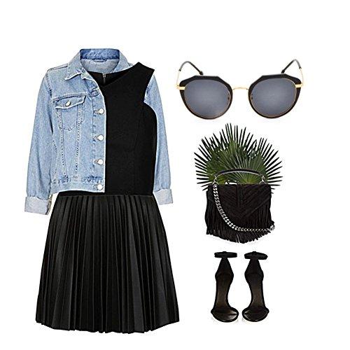 Sol con de 3 ZYXCC Gafas Mujer Gafas 2 Protección polarizadas Color Sol de con Colores YANJING de Gafas UV Sol de Completa de de Gafas Montura Sol Cuatro Mujer 0pqRdUw