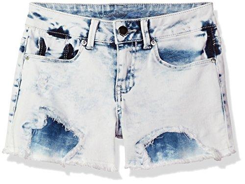 Calvin Klein Big Girls' Denim Short, Bleachout, 7 by Calvin Klein (Image #1)