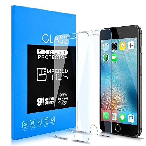 iPhone 7 plus/8 plus Screen Protector, [2-pack] 5.5-inch Clear film Anti-Scratch and anti-Fingerprint High Light Tempered Glass Screen Protector