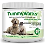 Premium Probiotic and Digestive Enzyme Powder for Dogs & Cats. Relieves Diarrhea, Yeast Infections, Itching, Skin Allergies & Bad Breath. Boosts Immune System. Made in USA