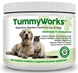 TummyWorks Probiotic for Dogs & Cats. Powder Relieves Diarrhea, Yeast Infections, Itching, Skin Allergies & Bad Breath. Boosts Immunity. 160 Scoops. Made in USA